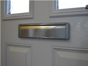 Replacing a letterbox in a upvc door